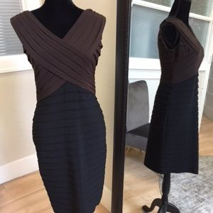 Size 10 black/brown Adrianna Papell cocktail dress